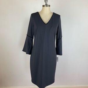 Neiman Marcus Charcoal Shift Dress